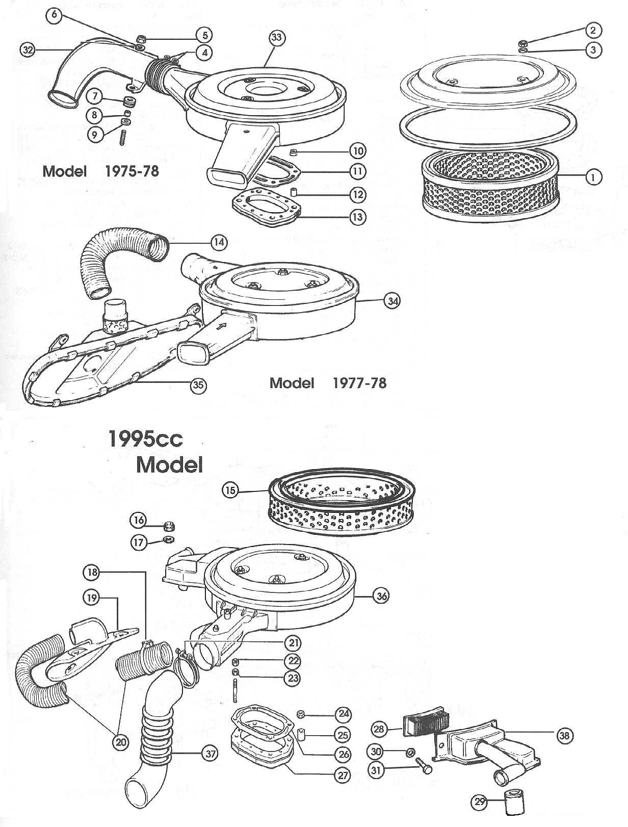 Air Cleaner – 1968-80 Carburettor Models