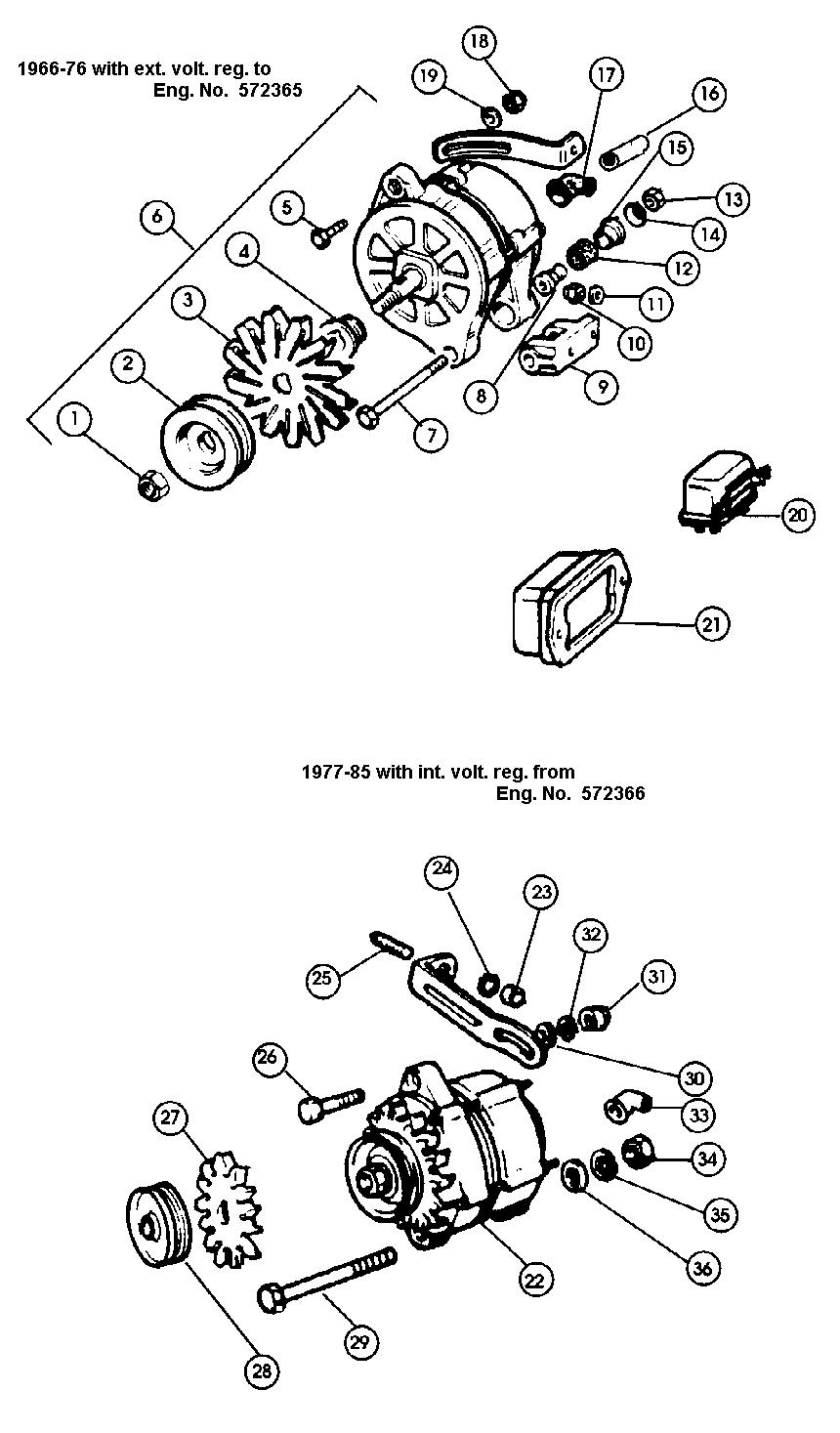 fiat 124 alternator
