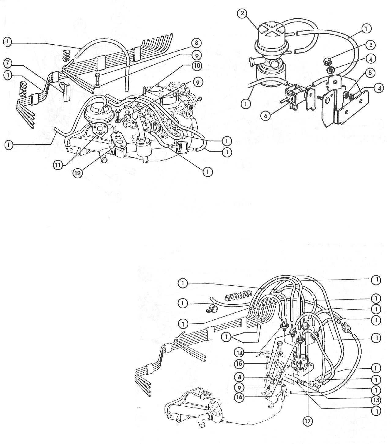 Anti-Pollution System – Carb. Models 1979 All,  1980 Federal