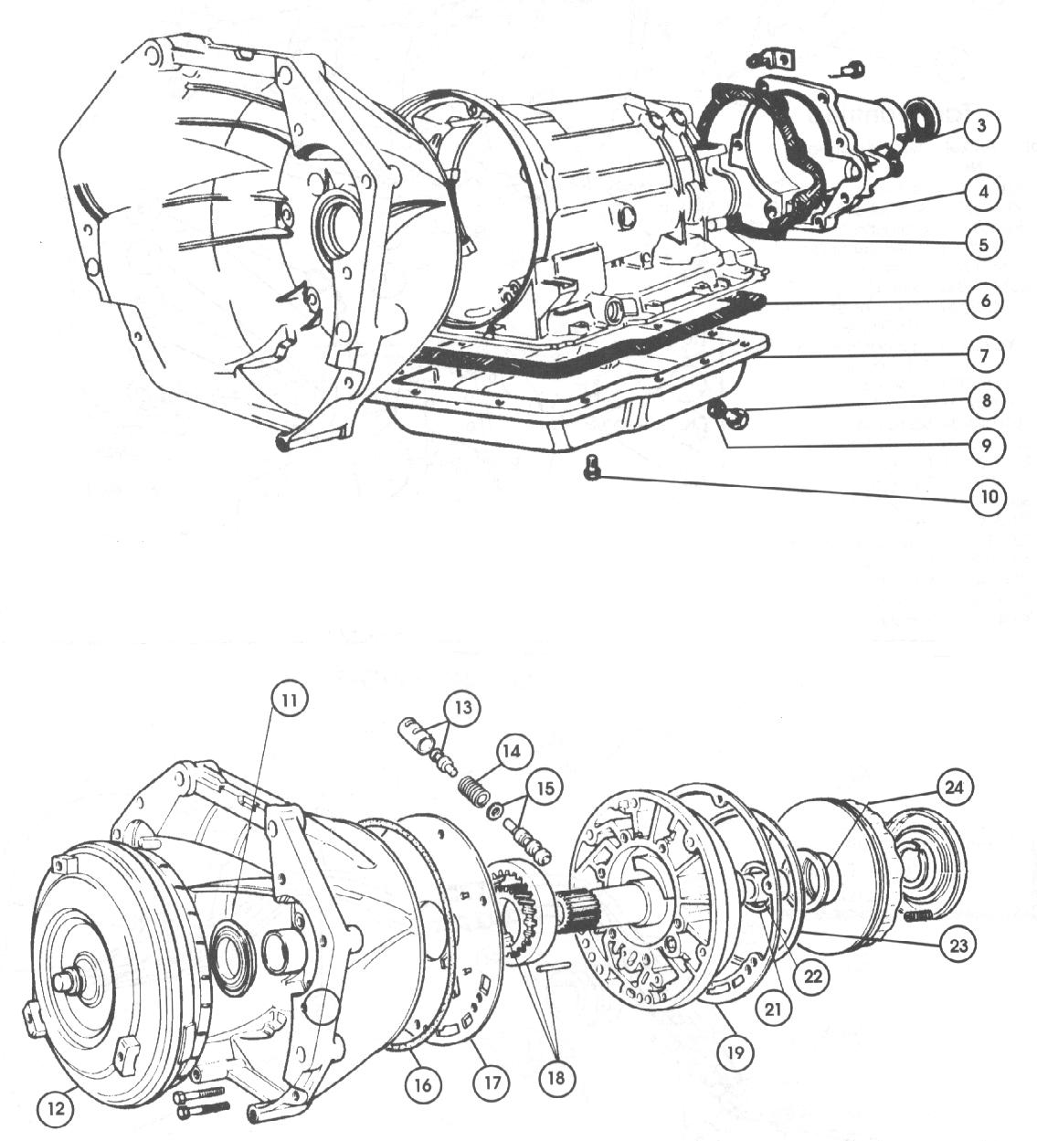 Fiat 124 Gearbox  Auto Trans U2013external Parts