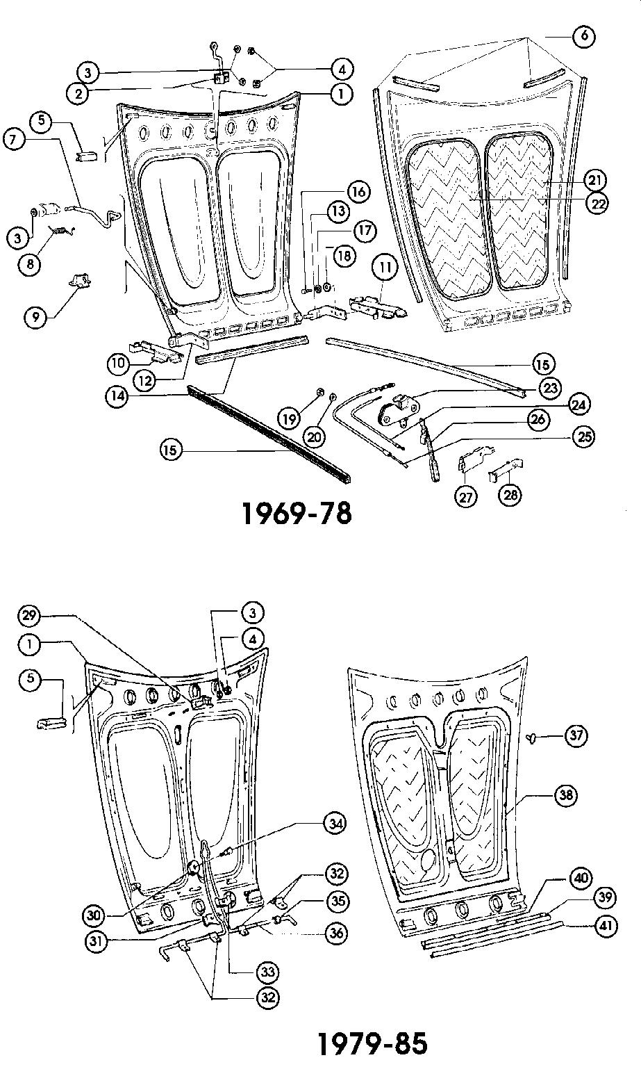 fiat 124 body  bonnet engine cover