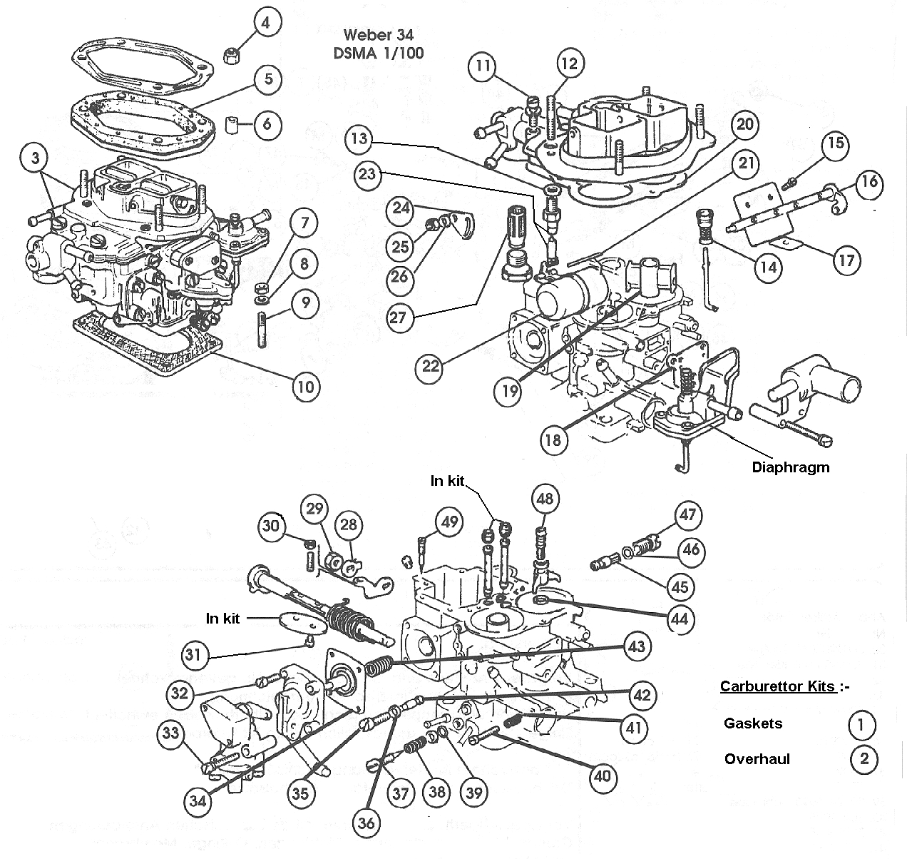 Carburettor – 1974 (USA)  1756cc.