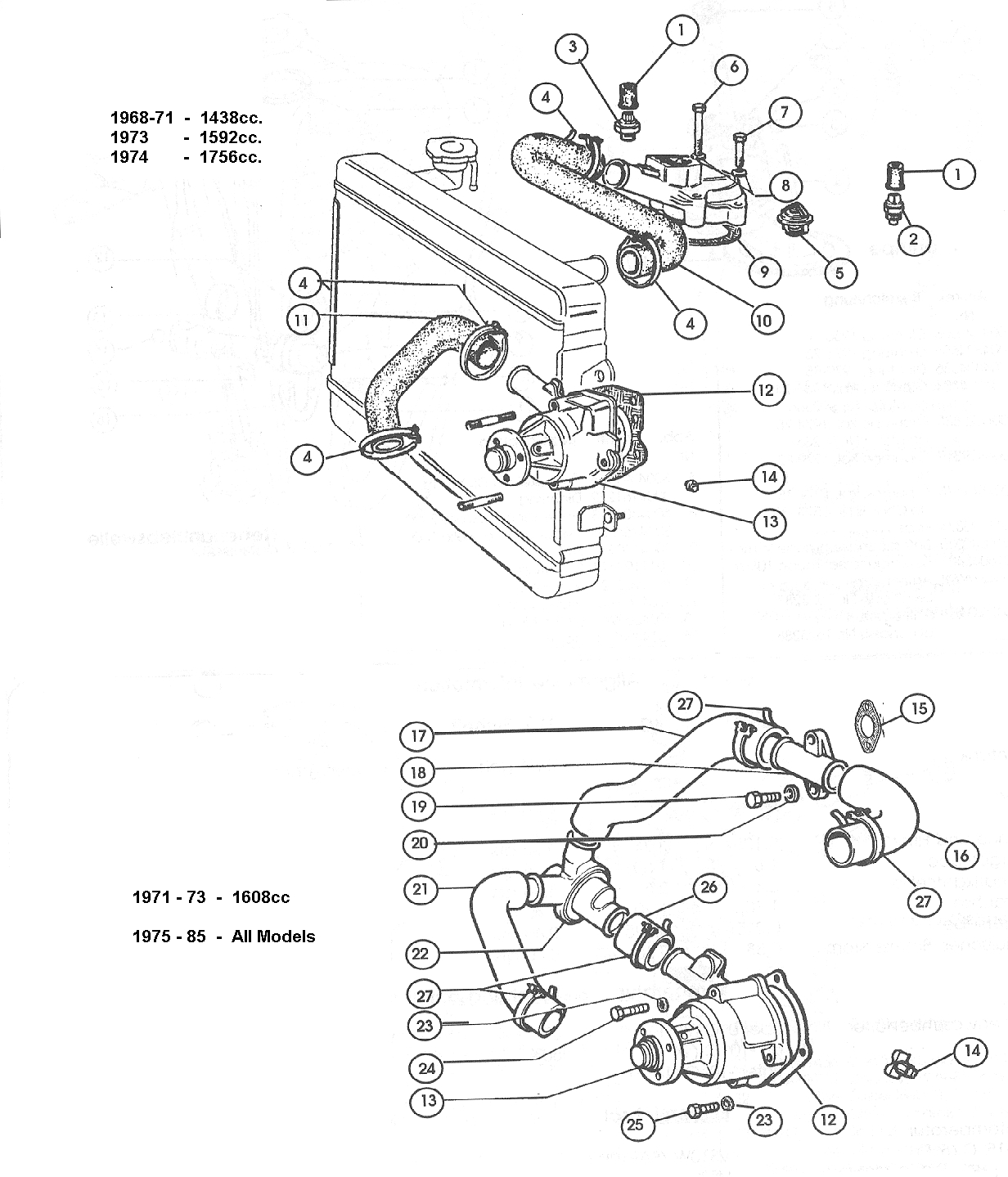 Fiat Engine Cooling Diagram Wiring Library 124 System 500 And Classic Abarth Specialists Middle Barton Garage