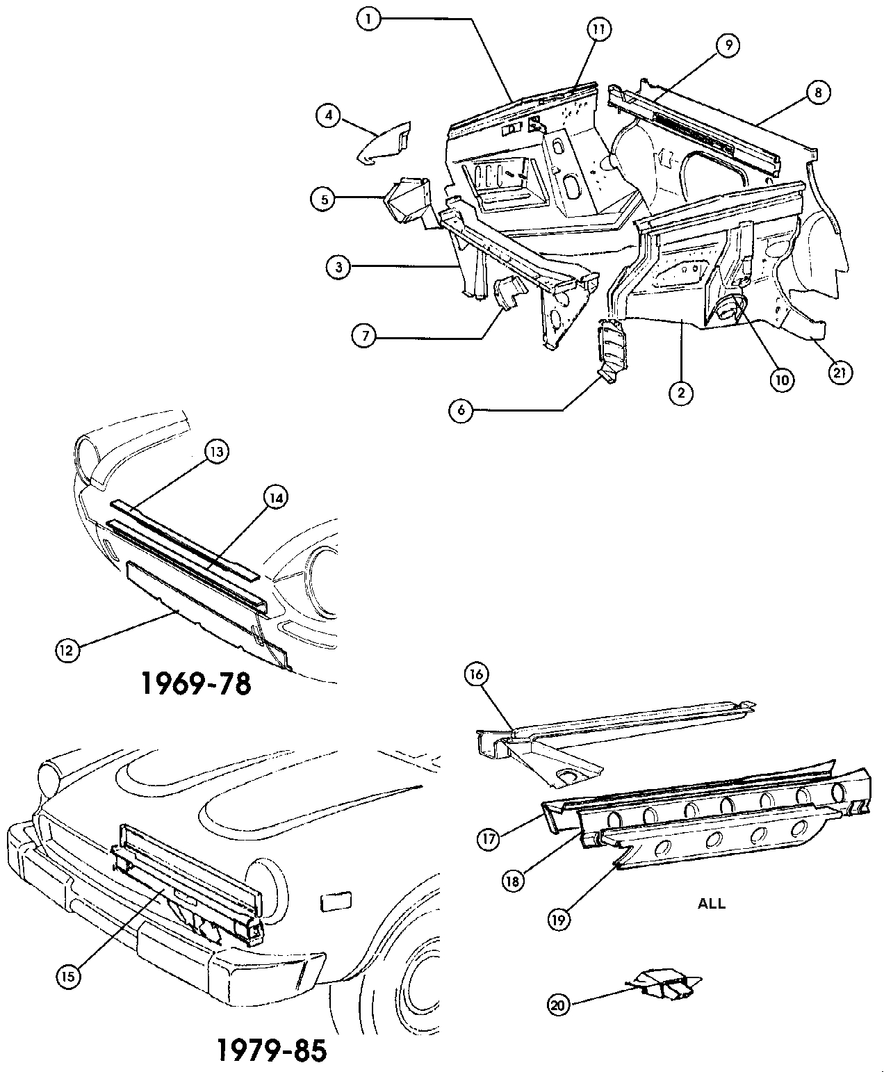 Fiat 124 Body Engine Bay Repair Panels 500 And Classic External Computer Parts Diagram Covers 78
