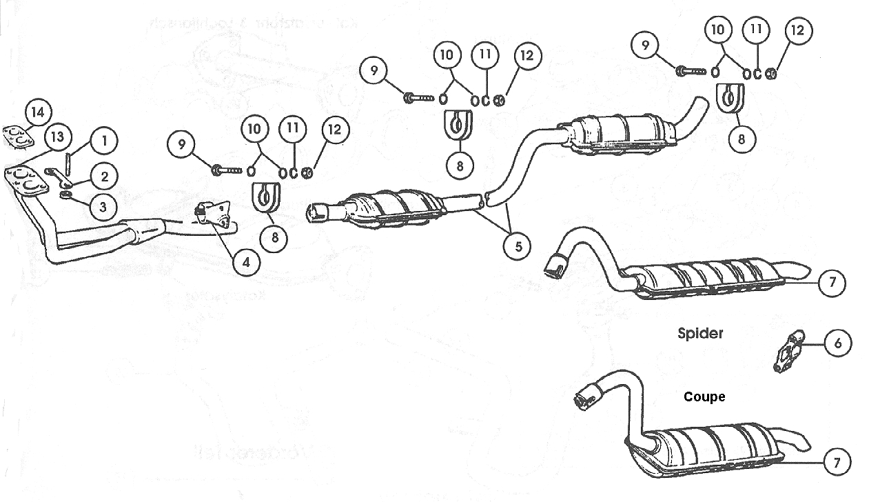 Exhaust System – 1968-74, All 1975 Exc.Calif.