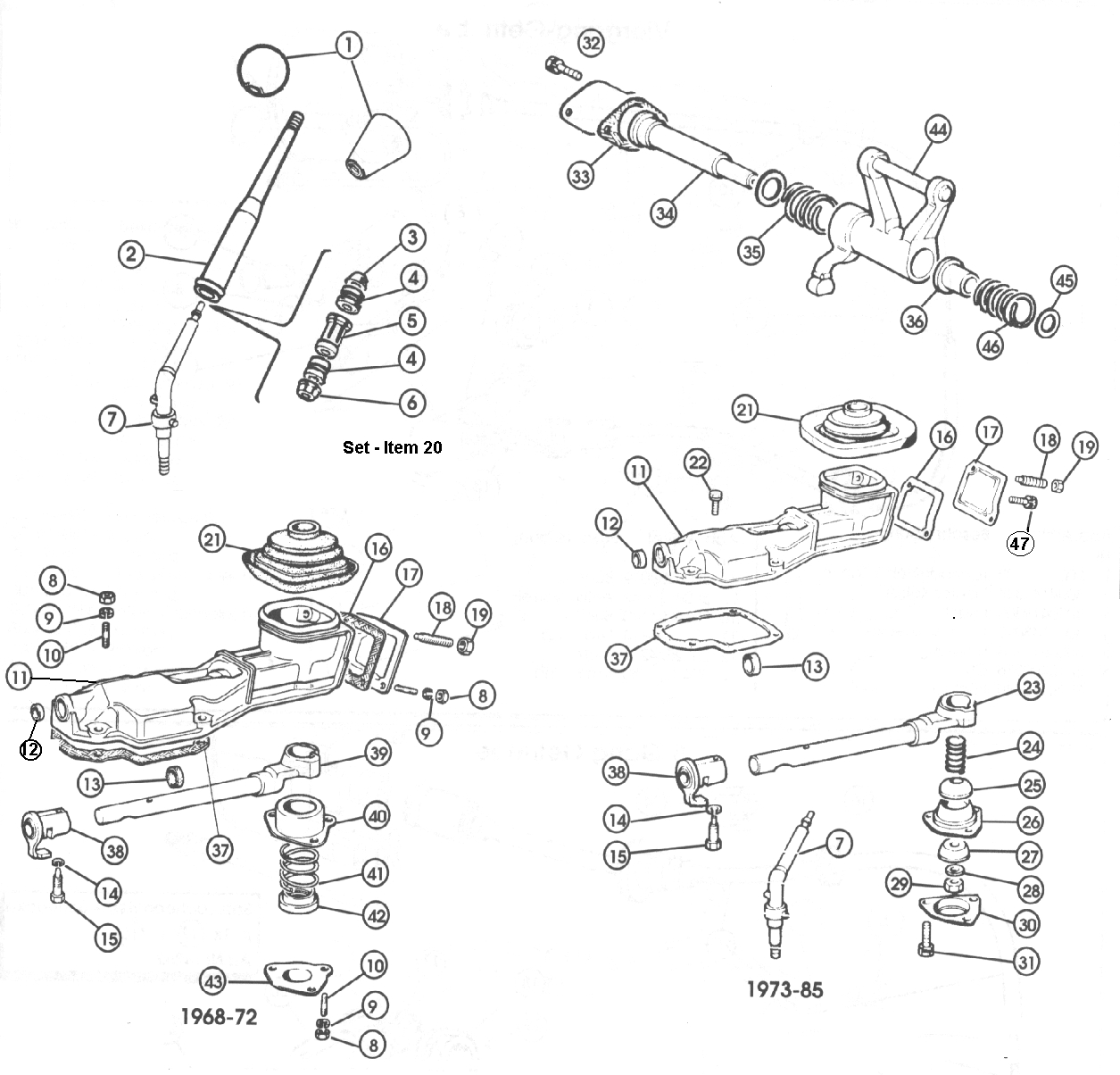 Fiat 124 Gearbox Five Speed Gbox Gear Selection Cont 1 500 Brakes Diagram