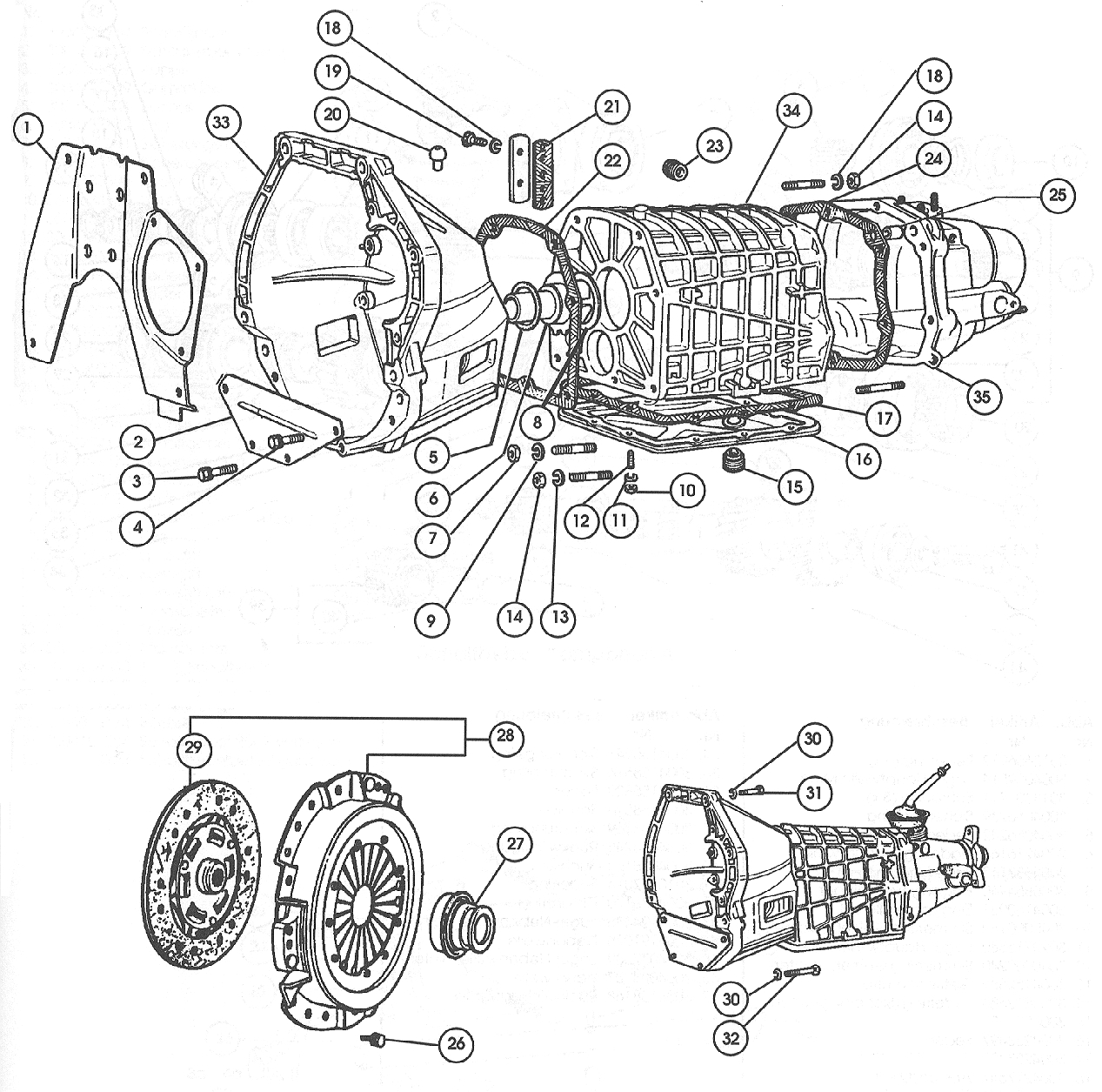 Four Speed Manual Gearbox – 1968-71 1438cc.