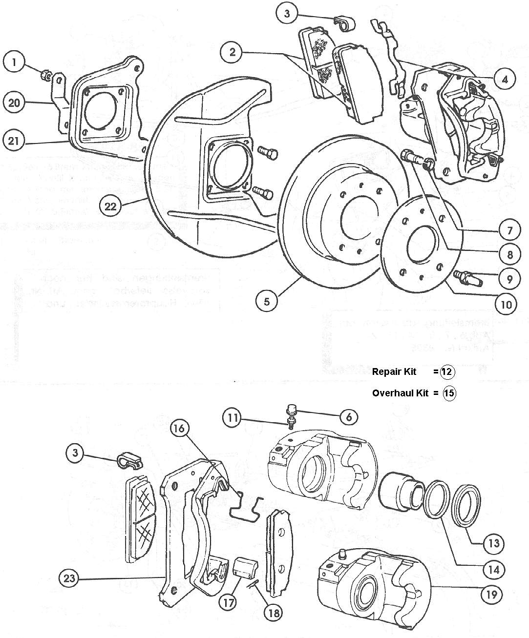 fiat 124 front brake discs  u0026 callipers  u2013 1966