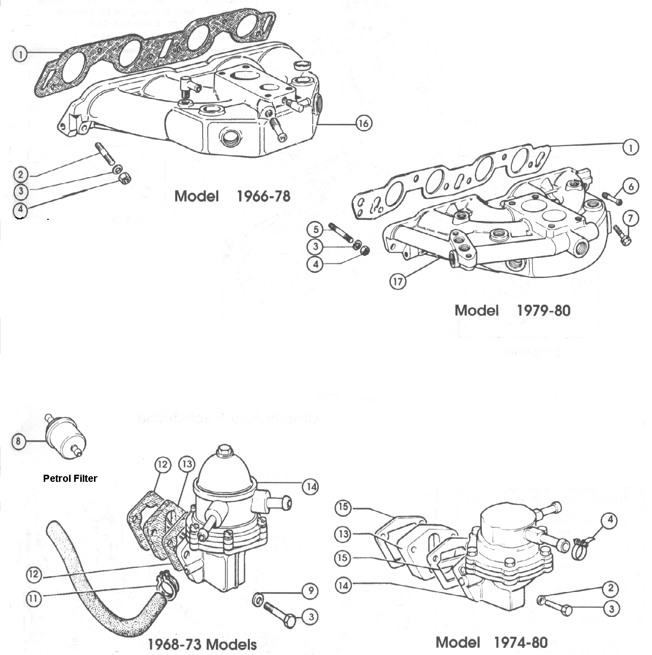 1981 Fiat Spider Fuel Pump Location The Car 79 124 Schematic 2000 Source Inlet Manifold 500 And Classic Abarth