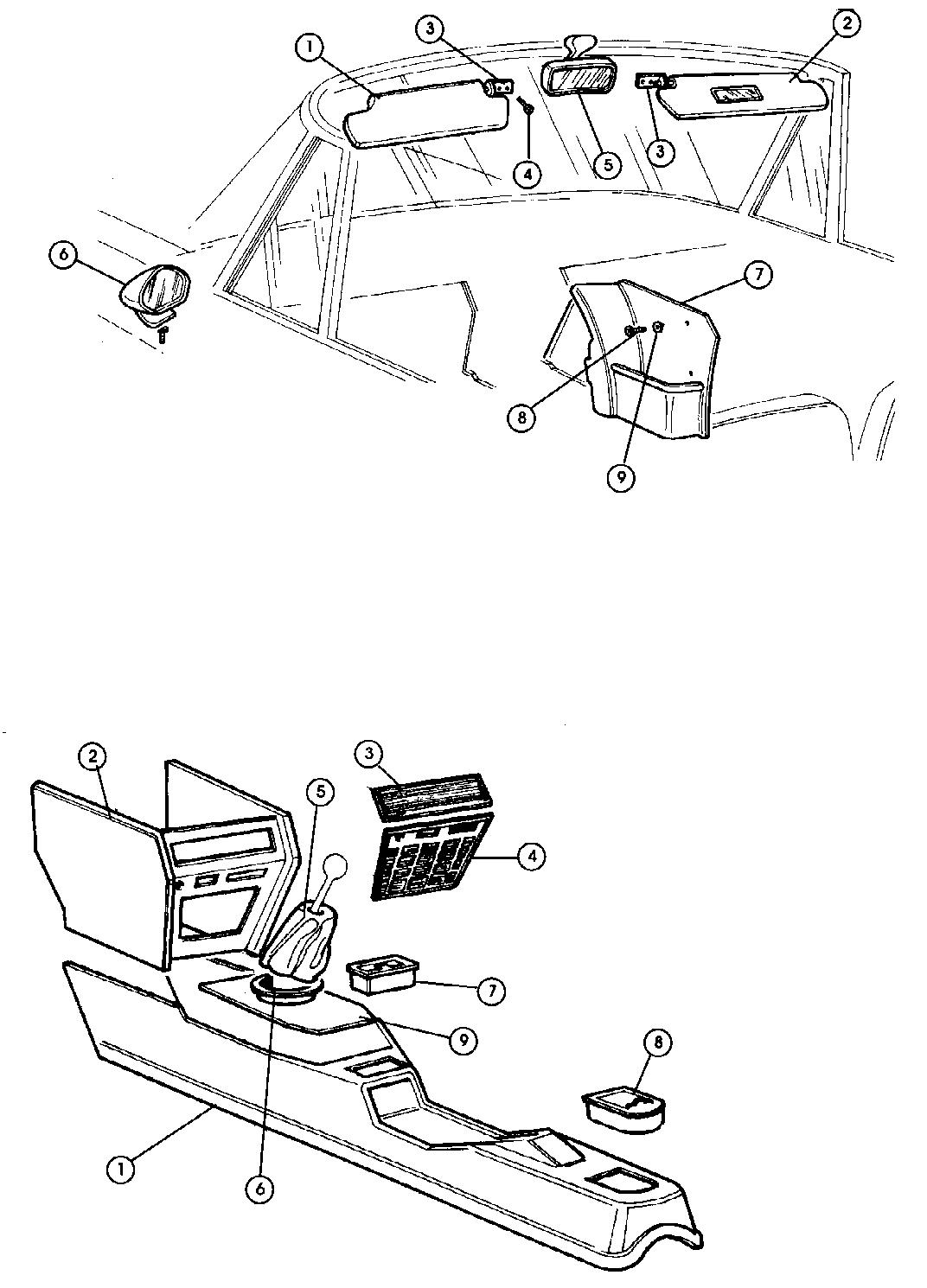 fiat interior parts