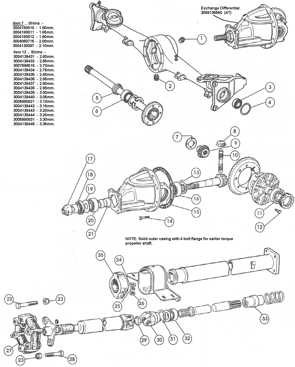 Rear Axle & Prop-Shaft – 1966-69