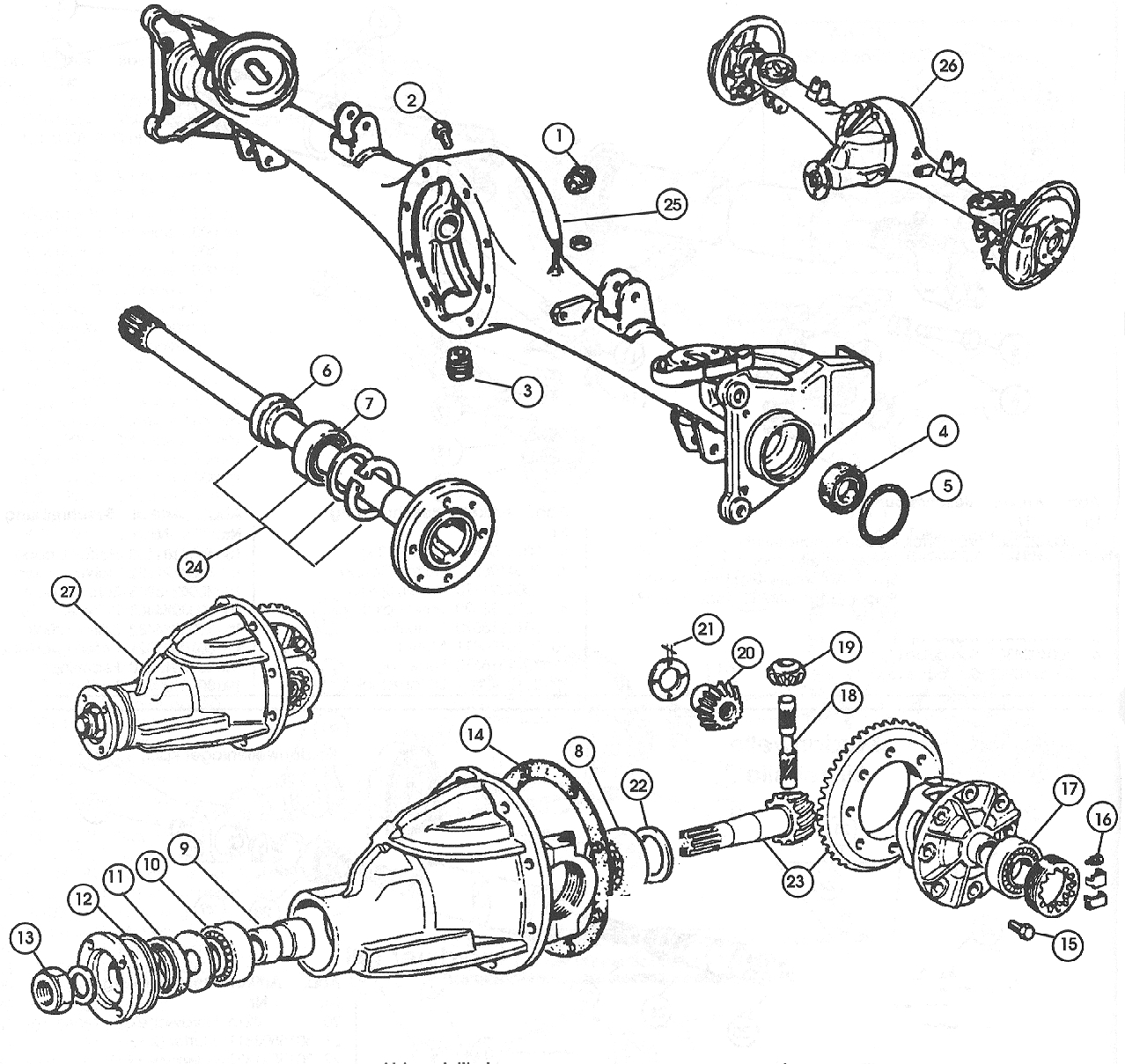 Fiat 124 Rear Axle Schematic List Of Circuit Diagram 1983 Electrical Solid Diff Gears 1968 78 500 And Rh Middlebartongarage Com