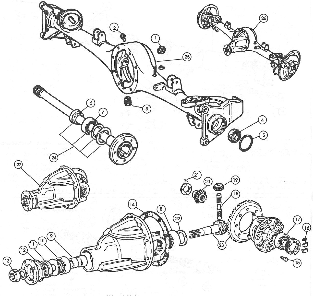 Fiat 124 Rear Axle Schematic - Data Wiring Diagram