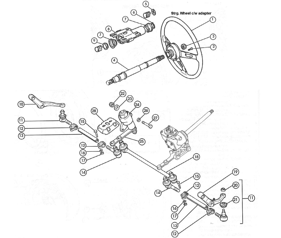 fiat 124 steering linkage  u2013 1966