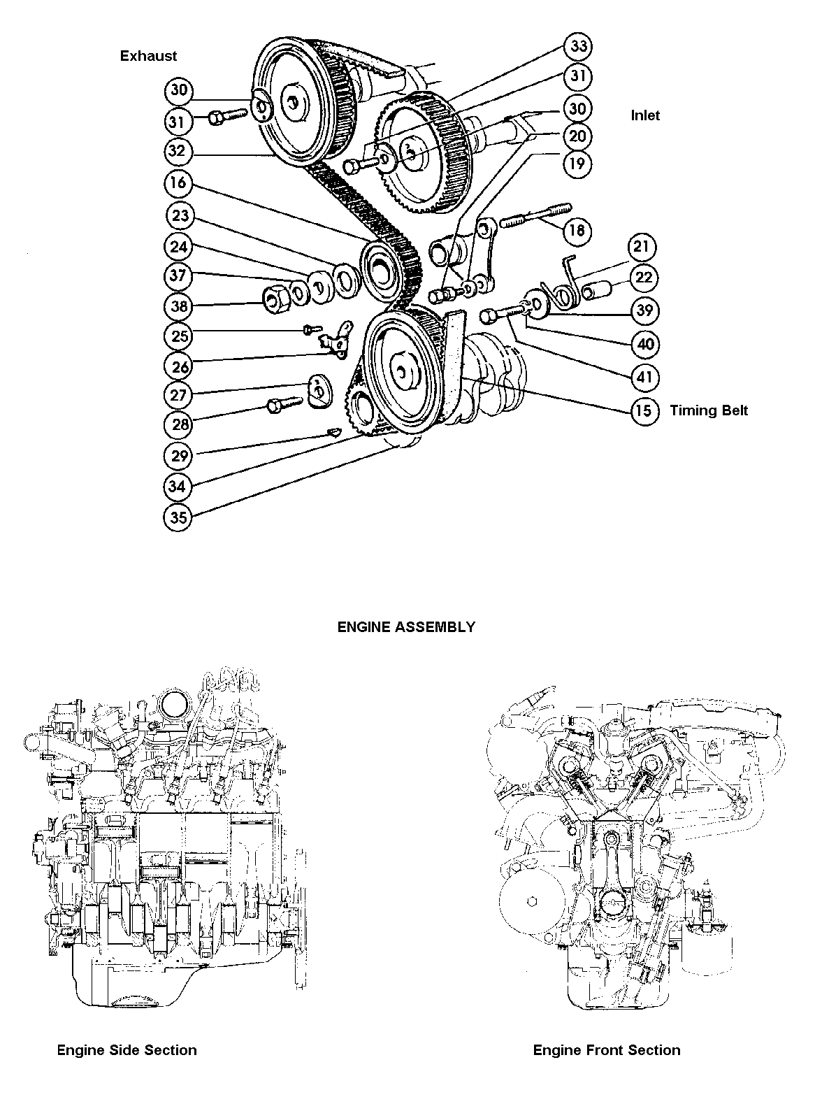 fiat 124 timing gear  u0026 engine assembly