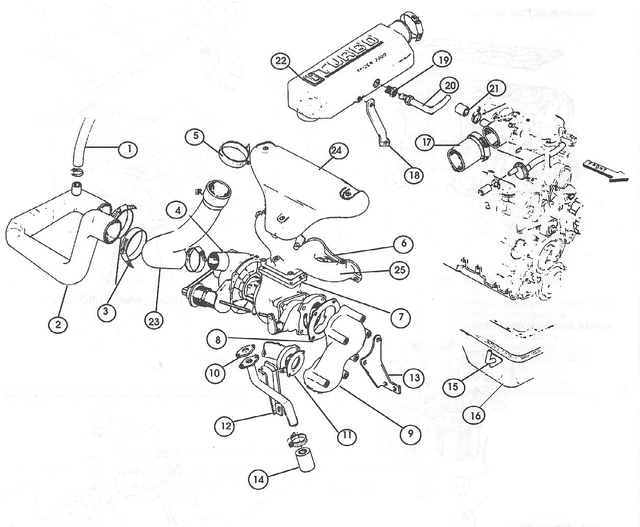 Turbocharger System - Optional 1981-82 Cont.