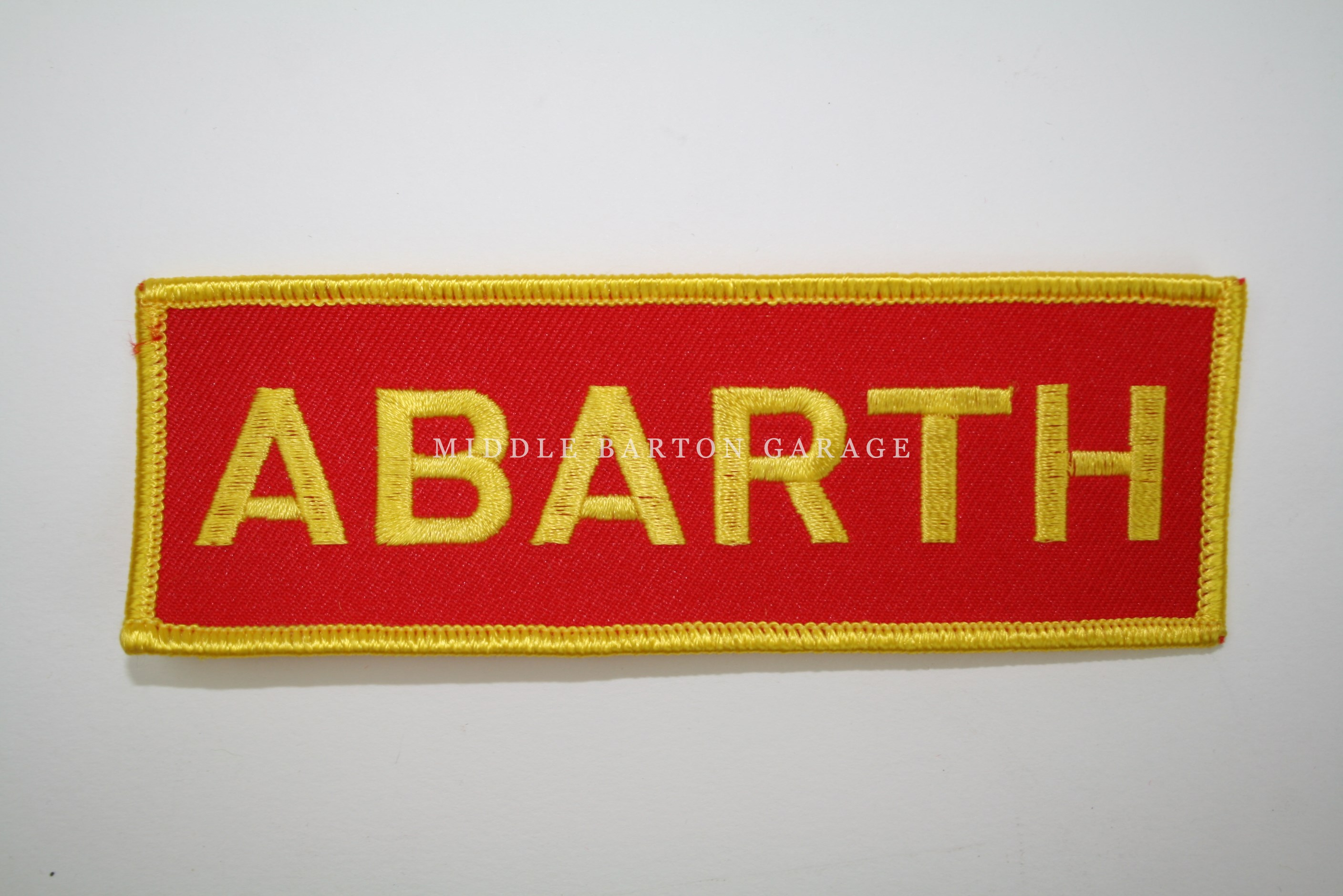 ABARTH EMBROIDERED LOGO/BADGE 125x40 PATCH