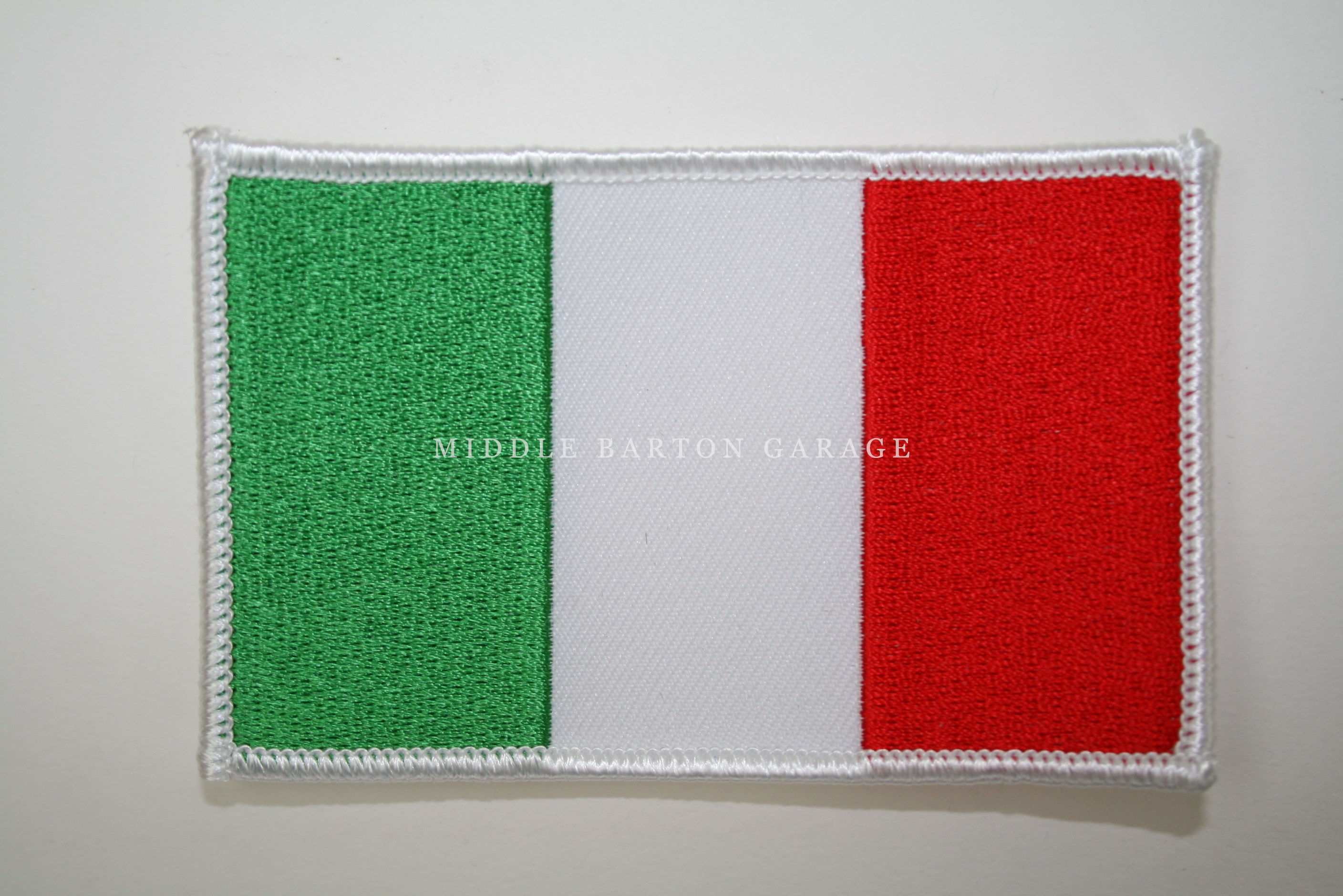 ITALIAN FLAG BADGE/PATCH 100x60mm