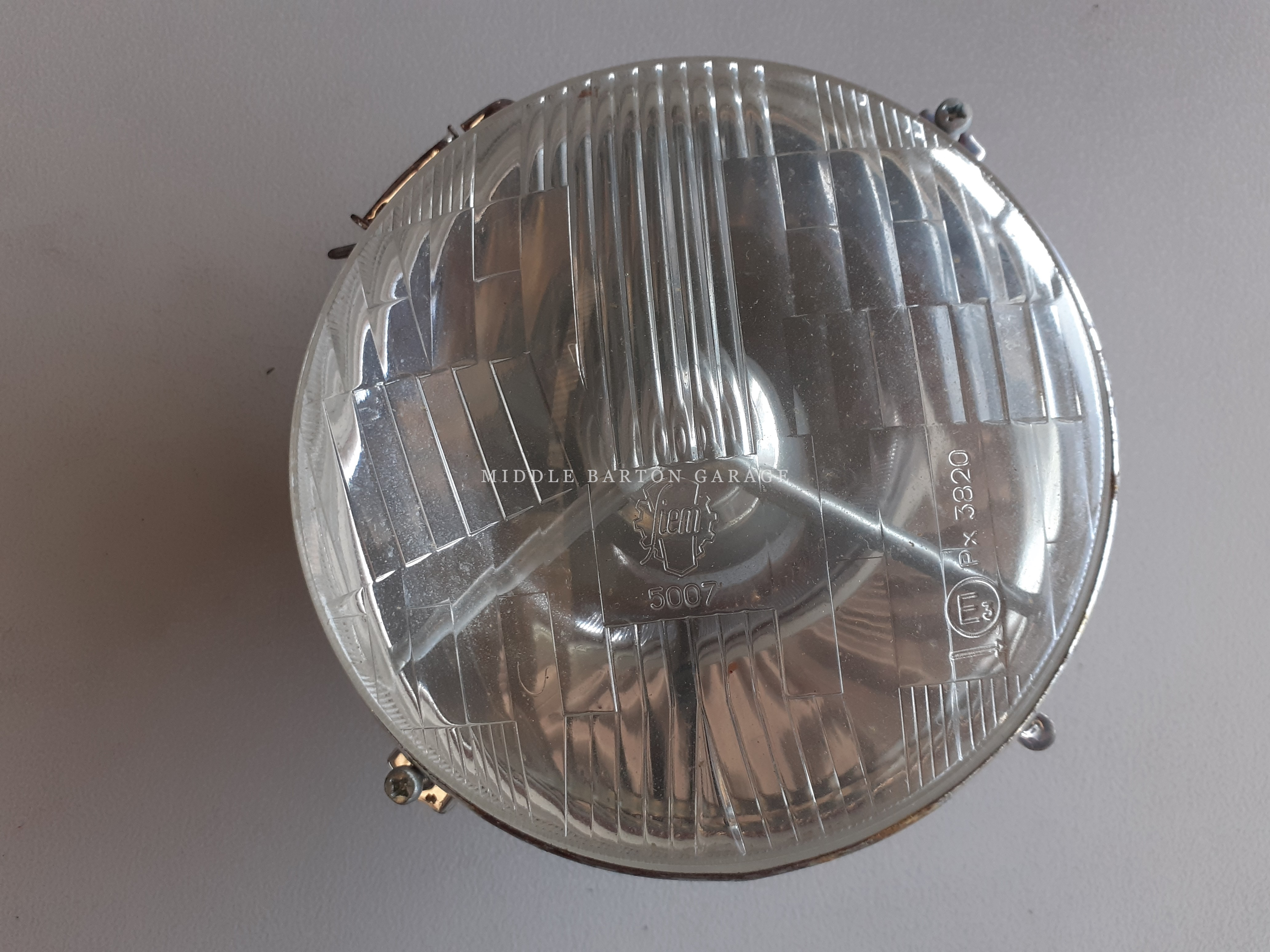 HEADLIGHT 600D SMALL  1964 - 66 RHD OE SIEM NO PARKING LIGHT