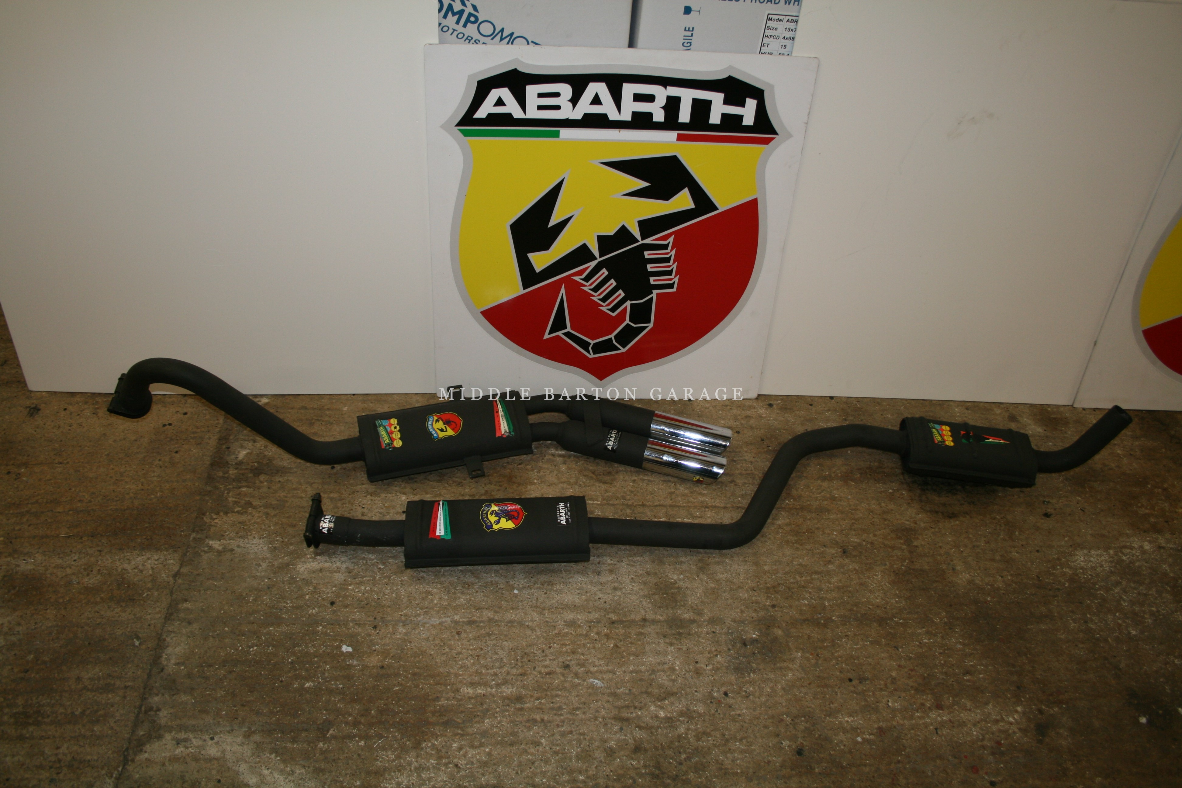 ABARTH EXHAUST SYSTEM FIAT 124 BC COUPE