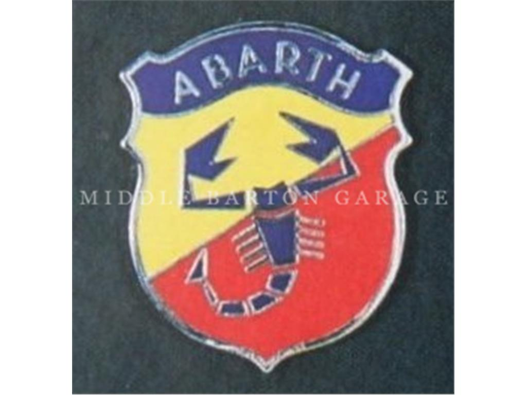 ABARTH SHIELD BADGE BOLT ON TYPE