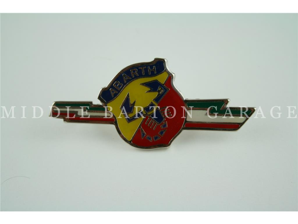 ABARTH SHIELD/LIGHTNING BOLT TRICOLOR