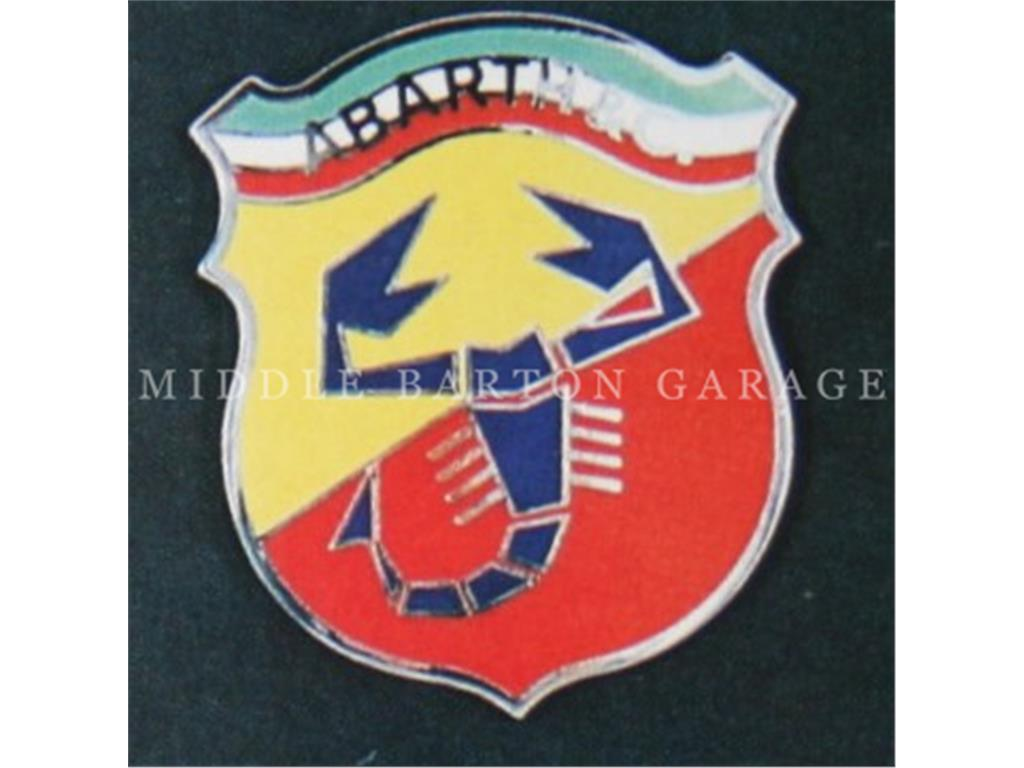 "ABARTH & C."" SHIELD TRICOLOR BACK 70MM """