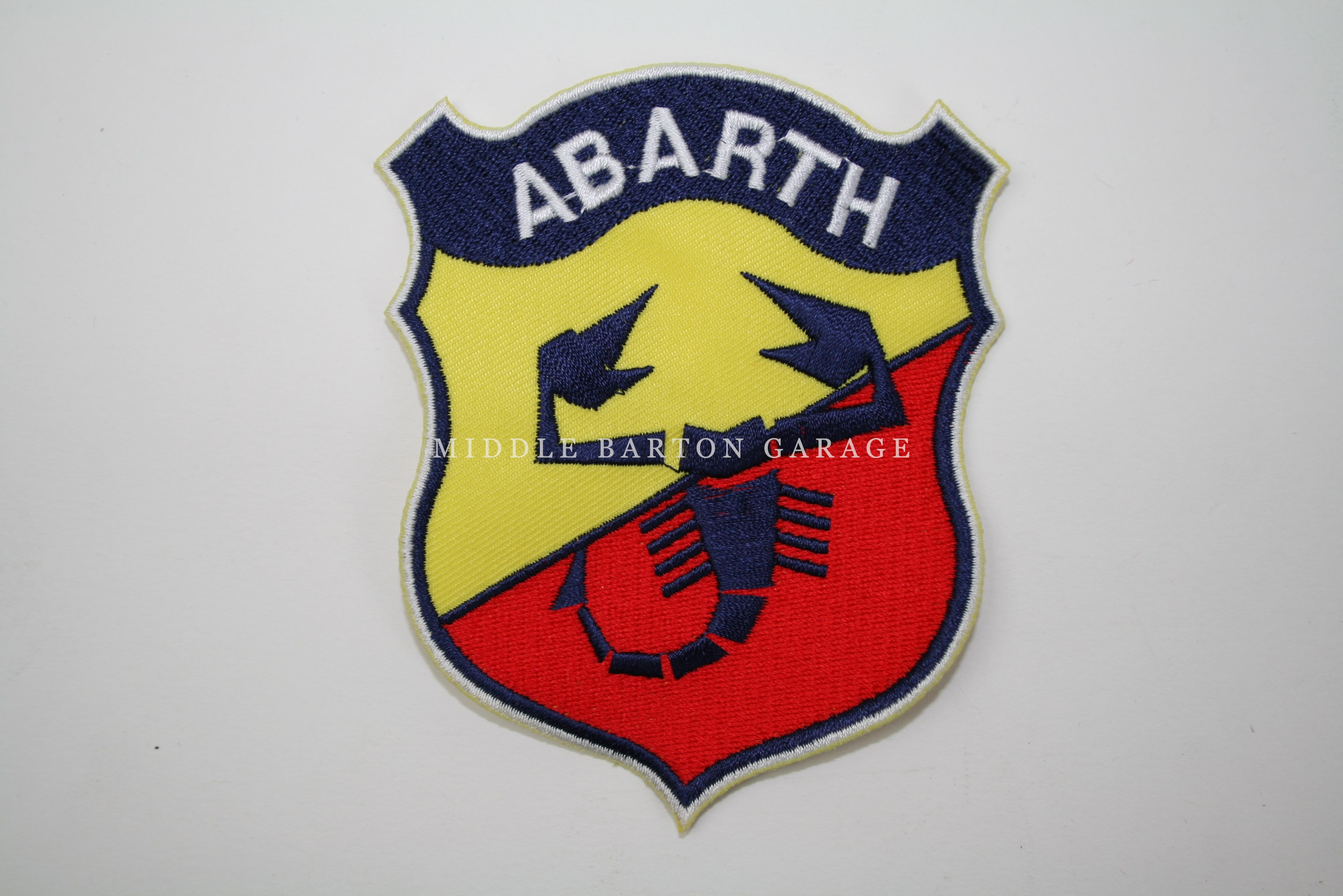 ABARTH SHIELD CLOTH BADGE(LATE STYLE) 110X85mm PATCH