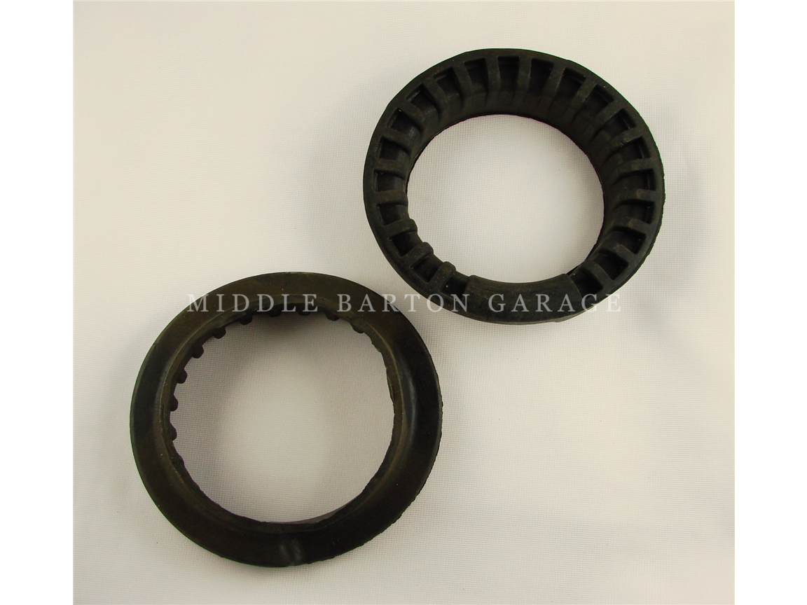 RUBBER CUP REAR SPRING UPPER124 = (PAIR)