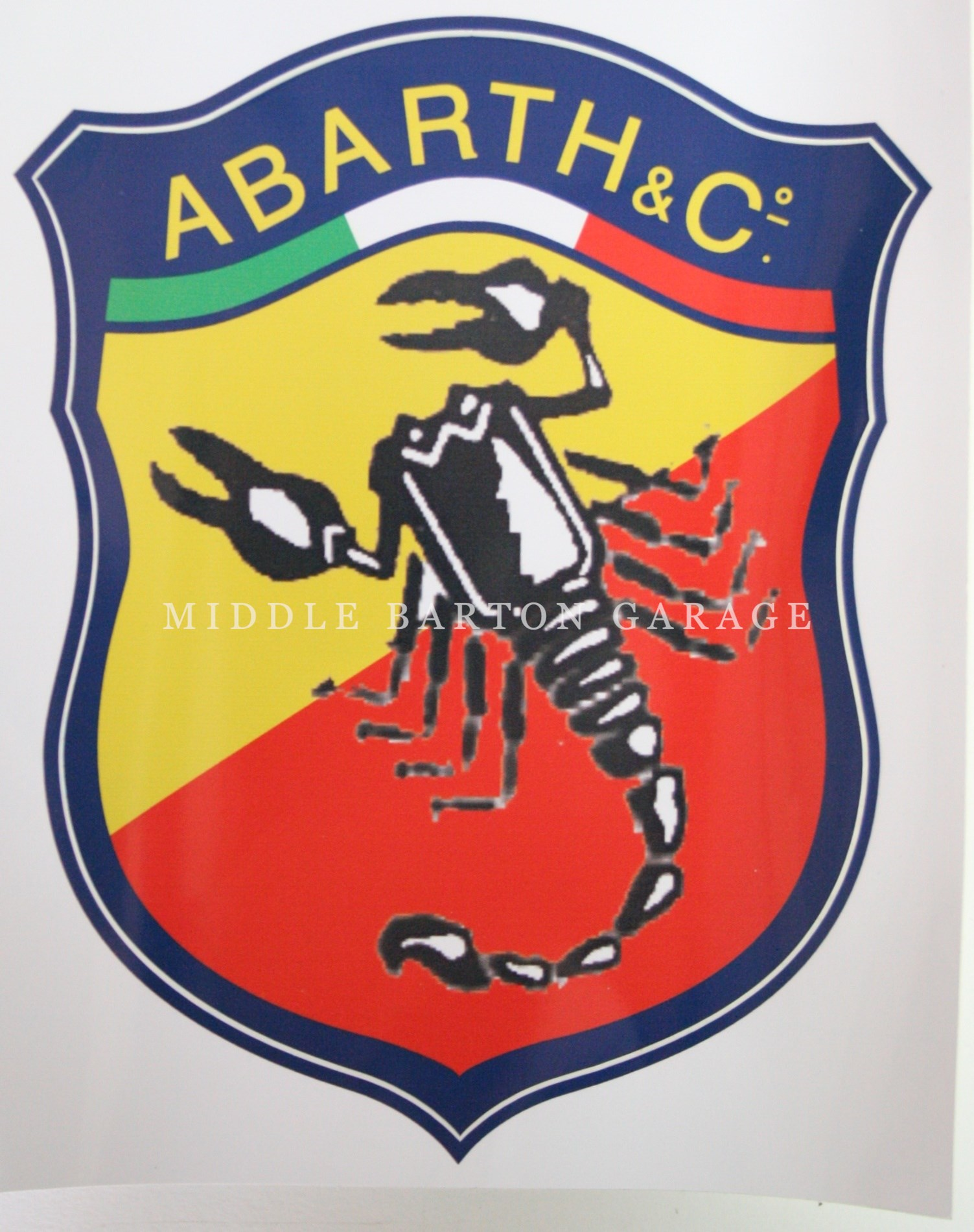 ABARTH & CO STICKER 180mm